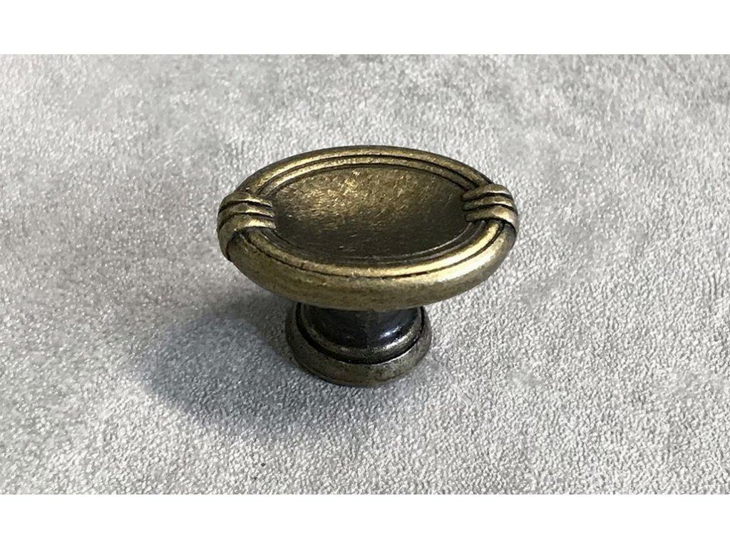 Rustikální nábytková knopka DGG32-G4 mosaz patina