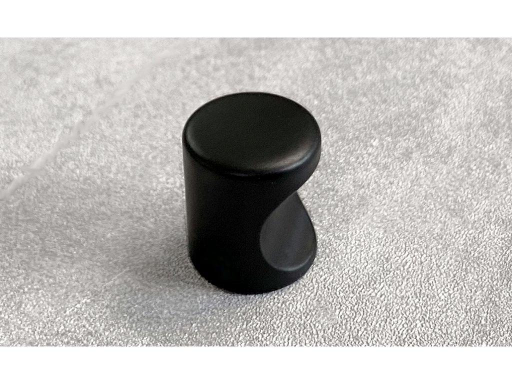 Nábytková knopka DD12-BM černá