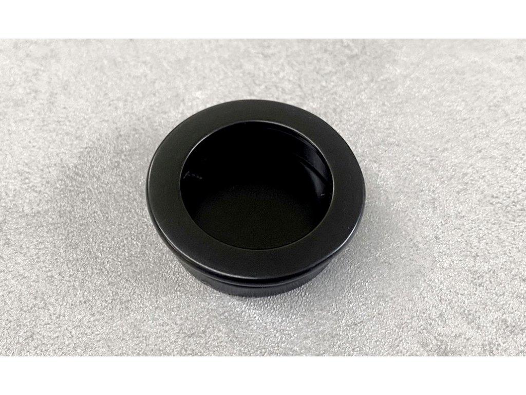 Zápustná nábytková úchytka DD02 černý mat