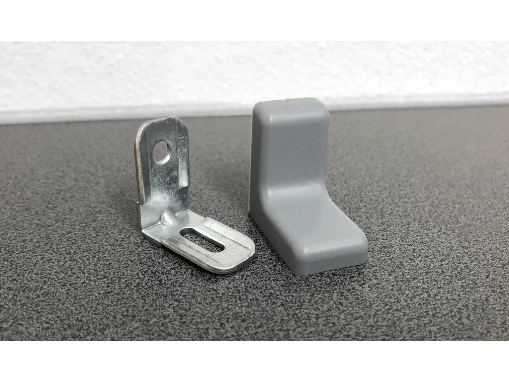 Kovový úhelník s plastovou krytkou U375