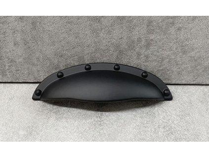 """Rustikální nábytková úchytka """"mušle"""" C-192-P61 černá"""
