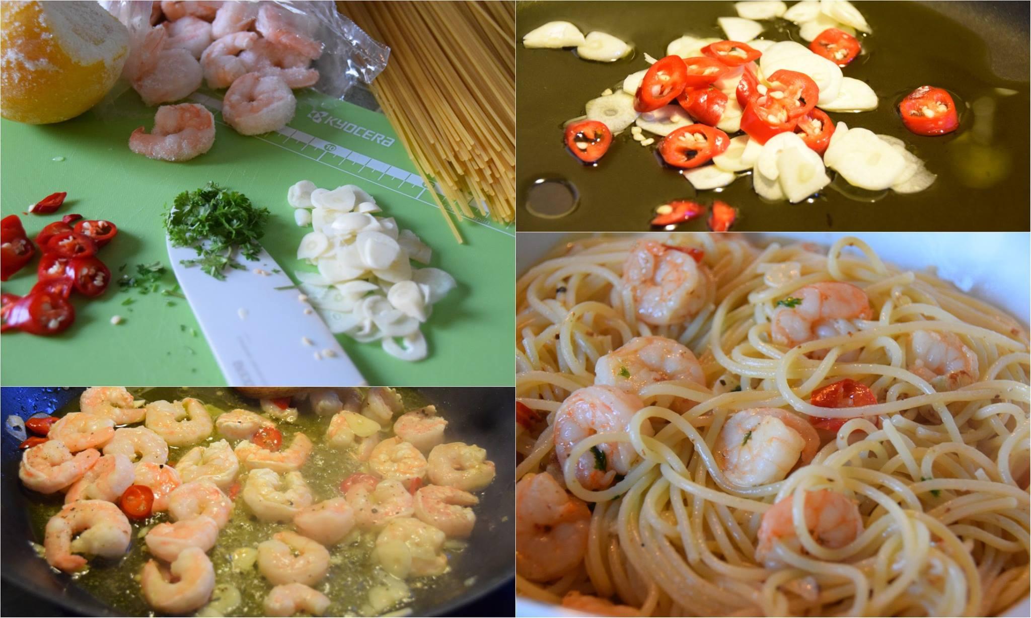 Špagety s krevetkami