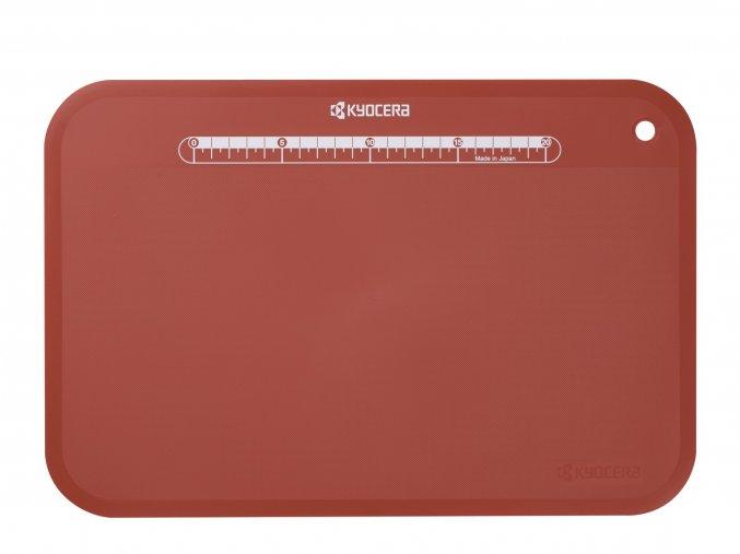 Prkénko na krájení, červené, velké, 370 x 250 x 2 mm