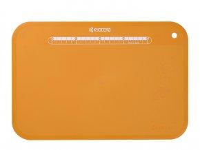Prkénko na krájení, oranžové, velké, 370 x 250 x 2 mm