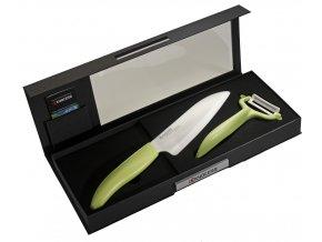 Dárkové balení nože a škrabky (zelené) FK-140WH-GR + CP-10-NG