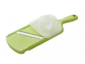 Keram. kráječ se 4 nast. šířkami plátků s chráničem prstů, zelený