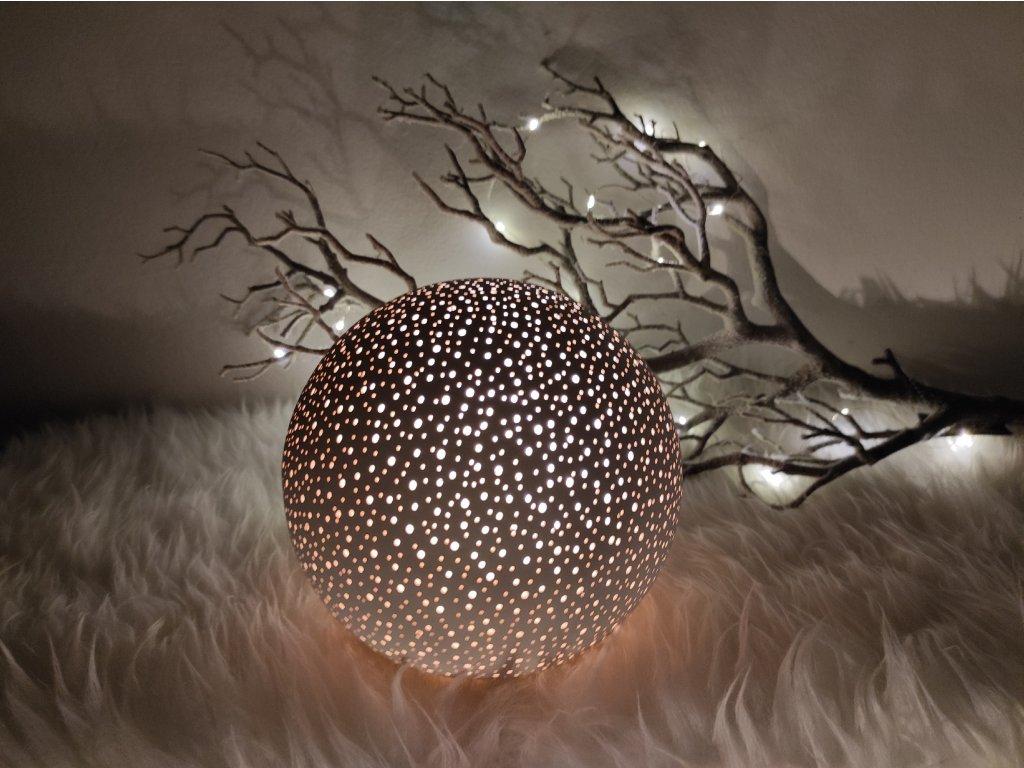 Keramický svícen koule velká