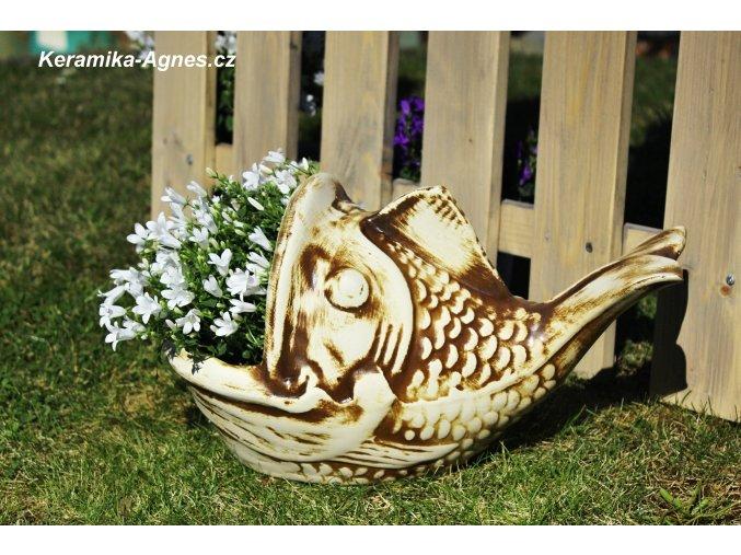 Zahradní mrazuvzdorný květináč RYBA
