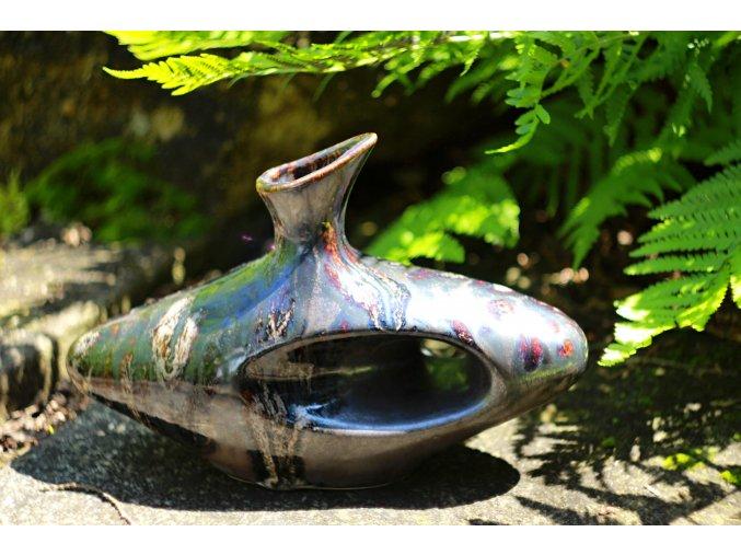 Keramická váza oválná