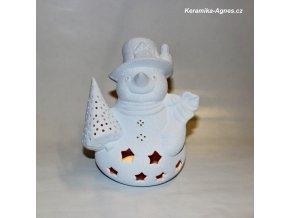 Keramický sněhulák bílý