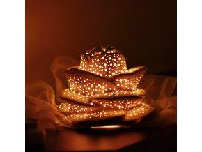 Keramický svícen děrovaný růže malá