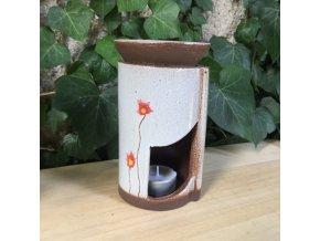 Aroma lampa s červeným květem 2