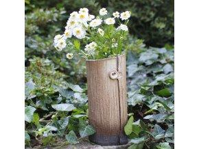 Nízká váza s knoflíkem 2