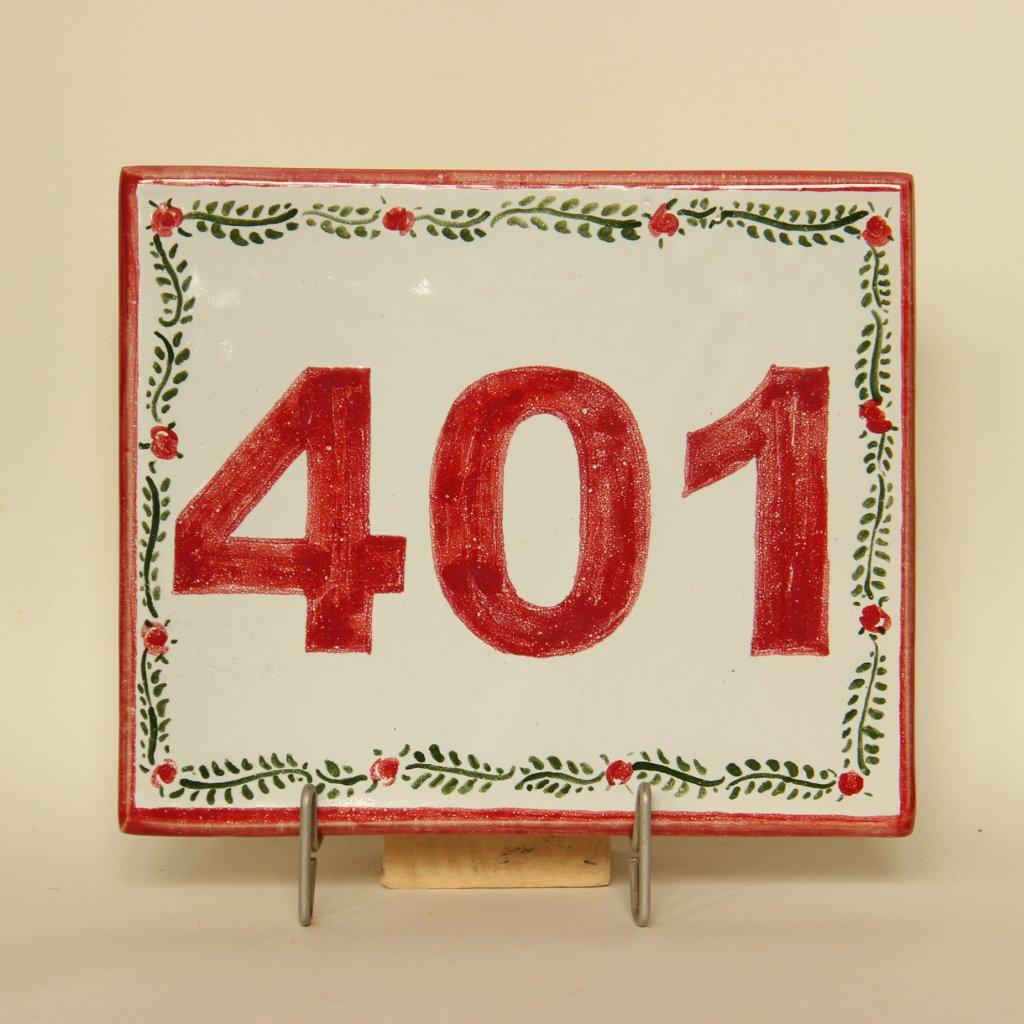 Domovní číslo - vzor 1