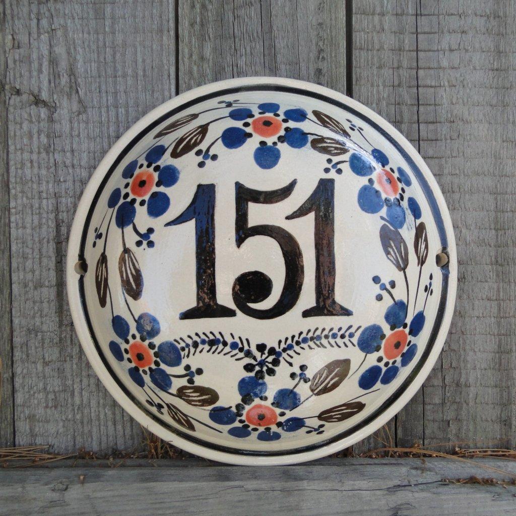 Domovní číslo - kulaté