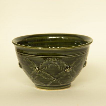 Miska malá zelená čajová