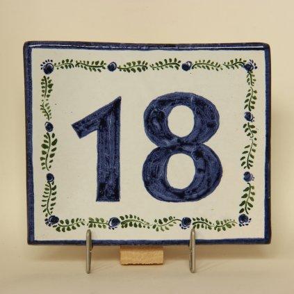 Domovní číslo - vzor 2