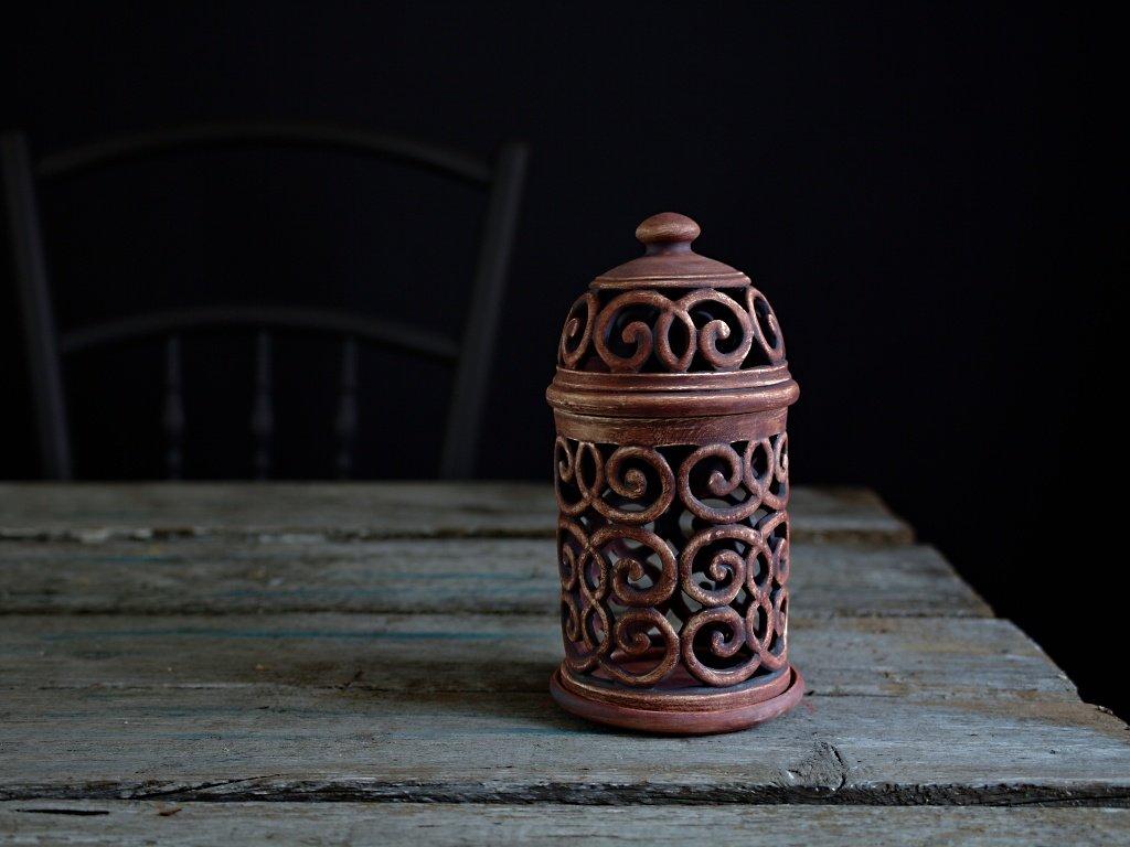 aromalampa patina železo