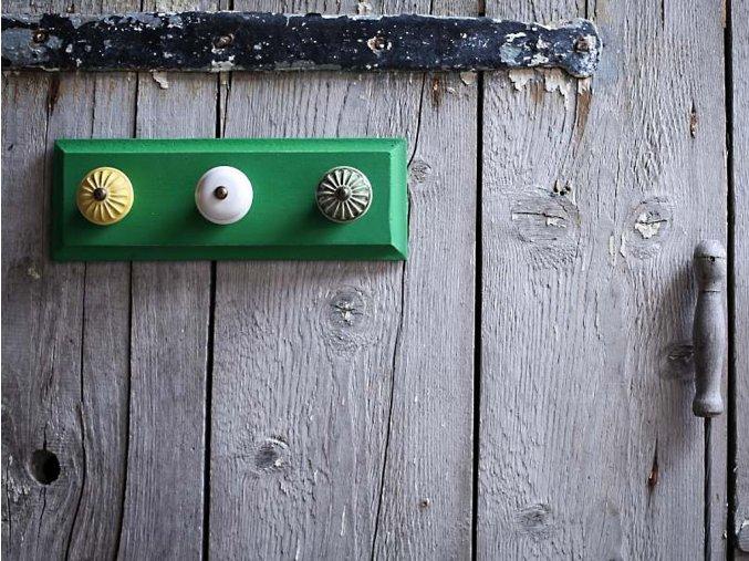 věšák malý zelený barva