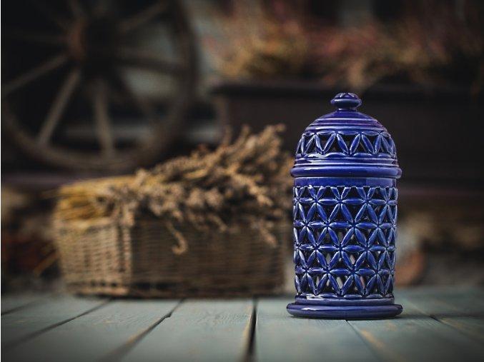 aromalampa květ života modř