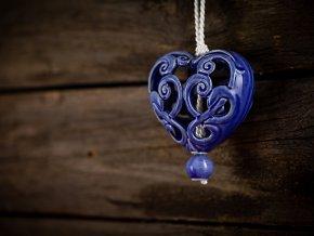 srdce modř