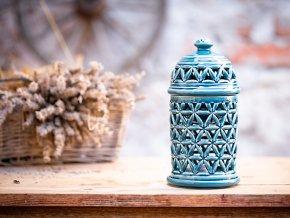 aromalampa květ modrá