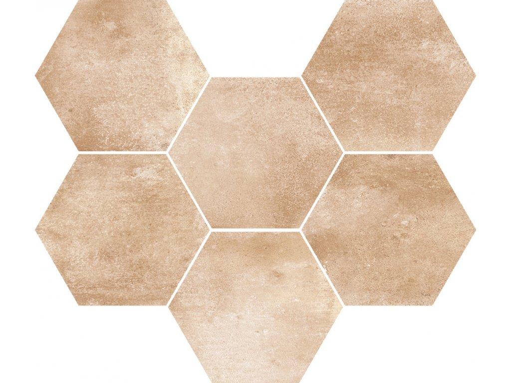 Marazzi Cotti Ditalia rosato retro hexagon dlažba MMYJ