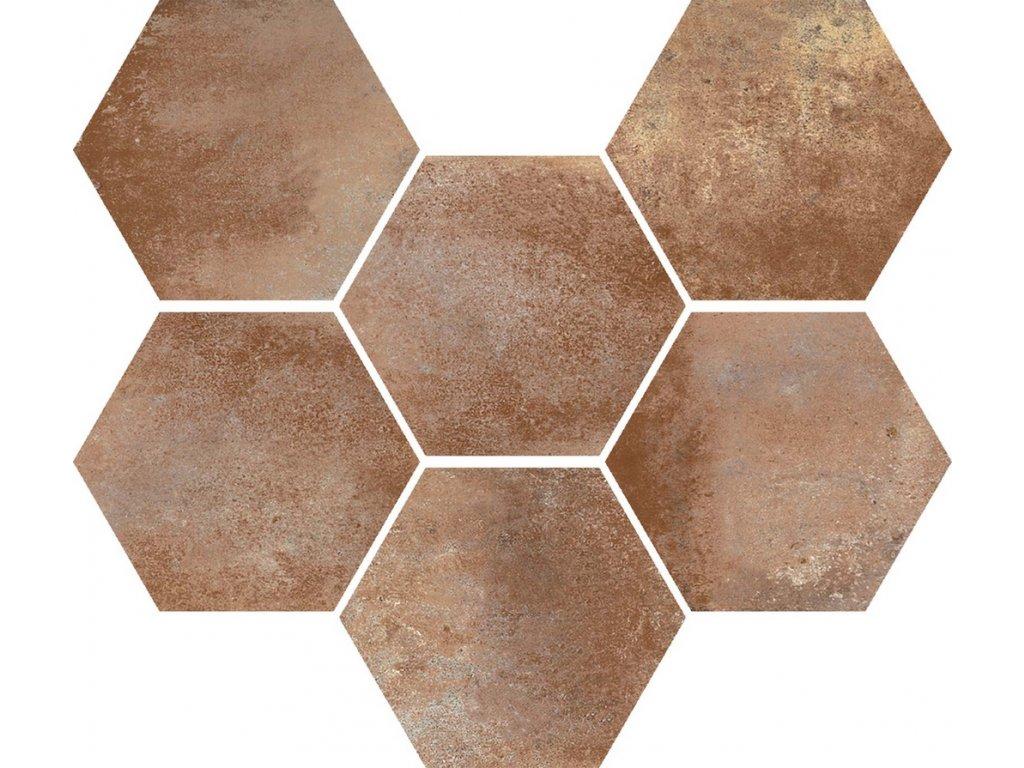 Marazzi Cotti Ditalia marrone retro hexagon dlažba MMYK