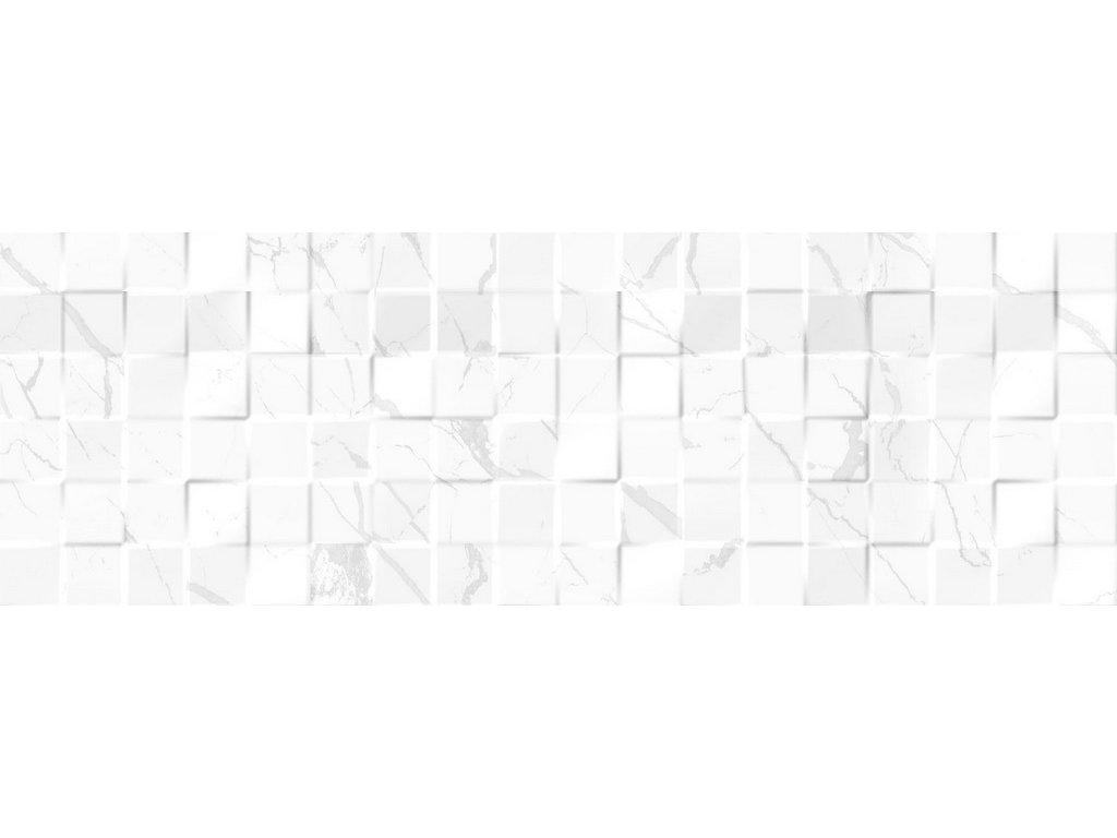 LUXOR mosaic white 3D obklad obkladačka v imitaci mramoru bílá