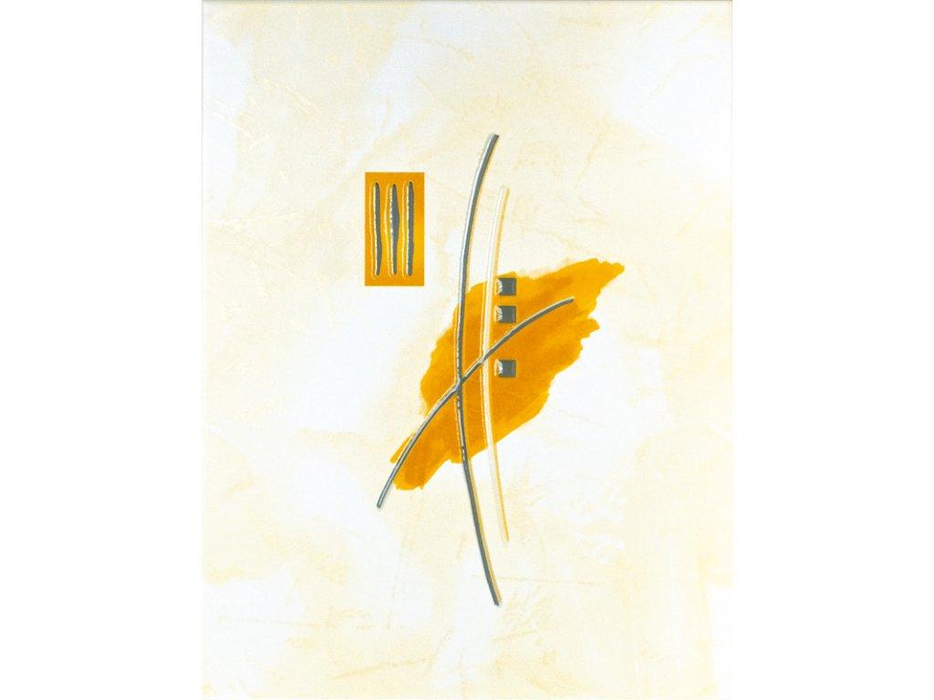 Ivana dekor oranžový kytka