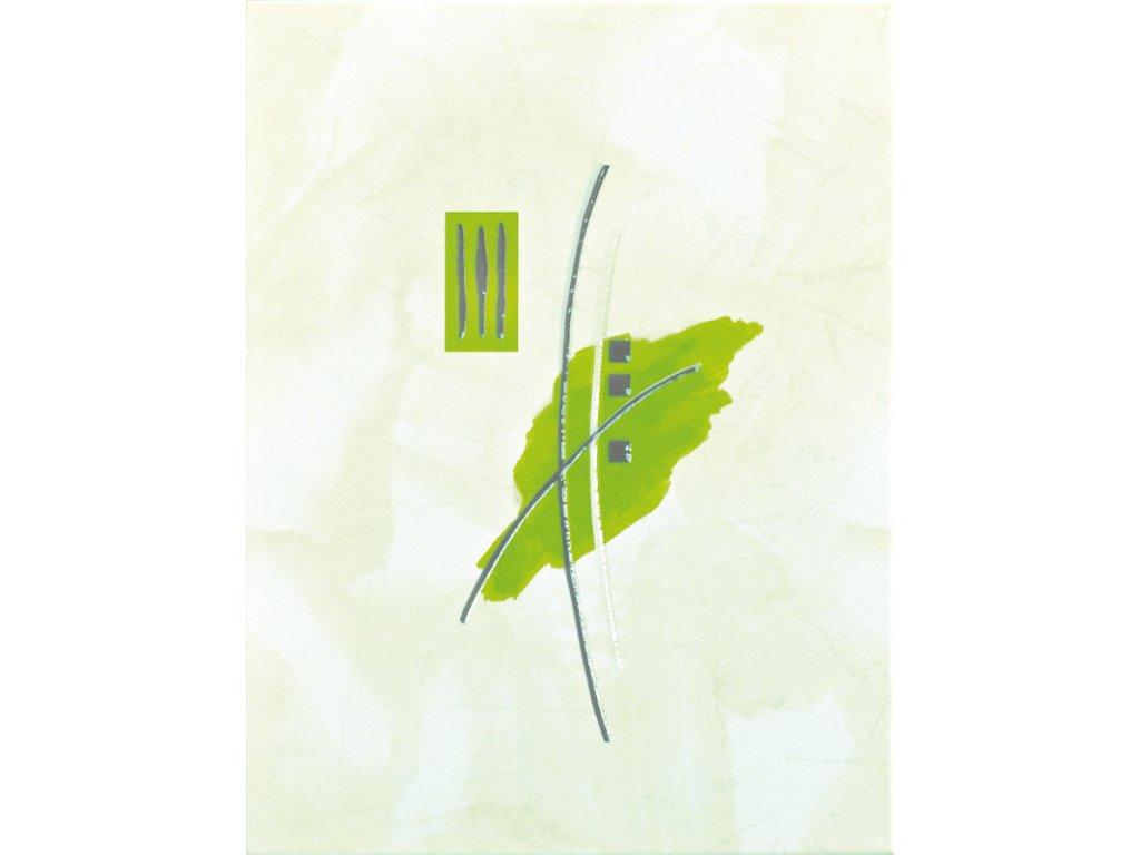 Ivana dekor zelený kytka 33x25