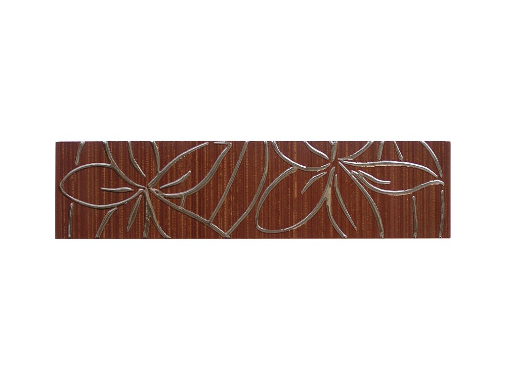 Hair listela hnědá květinový dekor WLAEA8060