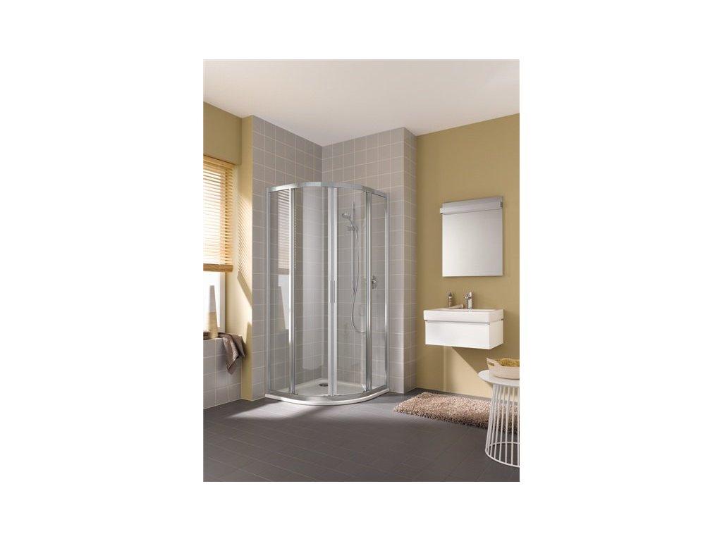 Čtvrtktuhový sprchový kout POSUVNÉ DVEŘE Cada XS