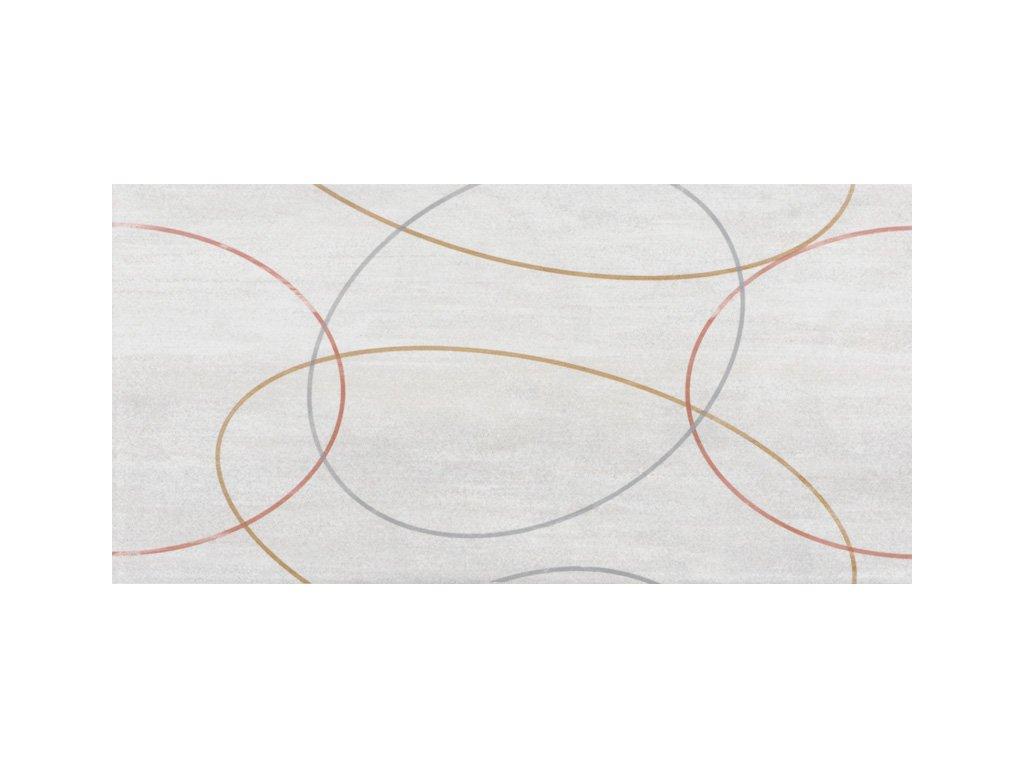 Balvano Holubí šeď, dekor, šedý, matný, 20 x 40 x 0,7 cm
