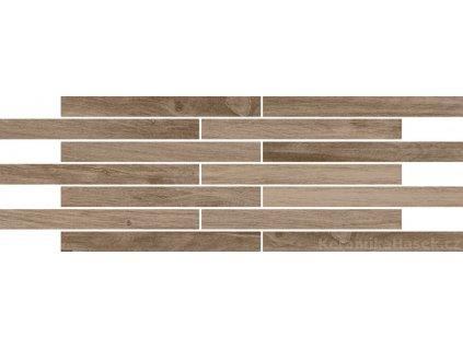 Infinity brown mozaika imitace dřeva 20x60