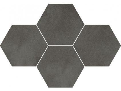Mosaic Hexagon Town Antracite dlažba 28,3x40,8