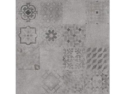 Rako Betonico dlažba dlaždička dlaždice slinutá dekor dekorativní patchwork DAK63796