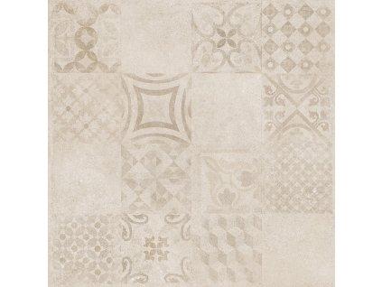 Rako Betonico dlažba dlaždička dlaždice slinutá dekor dekorativní patchwork DAK63797