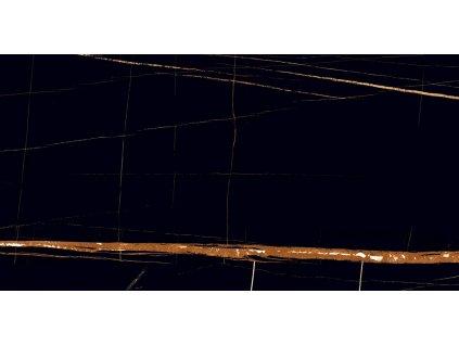 BLACK WONDER dlažba dlaždice imitace mramoru slinutá