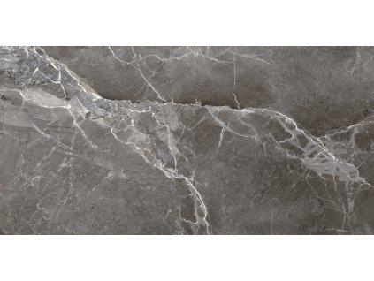 Earthstone Graphite, dlažba, šedá, lesklá, 60x120
