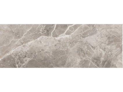Lesklý obklad v imitaci mramoru ARIANA Graphite 25 x 70 cm