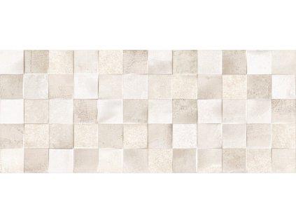 Estela Beige DC Mosaic, dekorativní obklad, béžový, matný, 25 x 60 x 0,9 cm