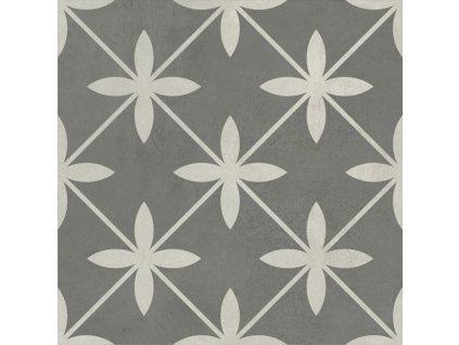 Laurent 120, dekorativní dlažba, šedá, matná, 18,6x18,6 cm