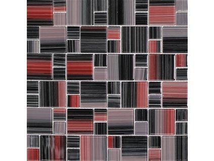 Červená skleněná mozaika mix NO-66