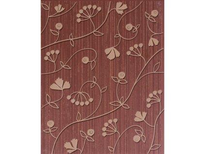Hair květinový dekor hnědý WITGW127
