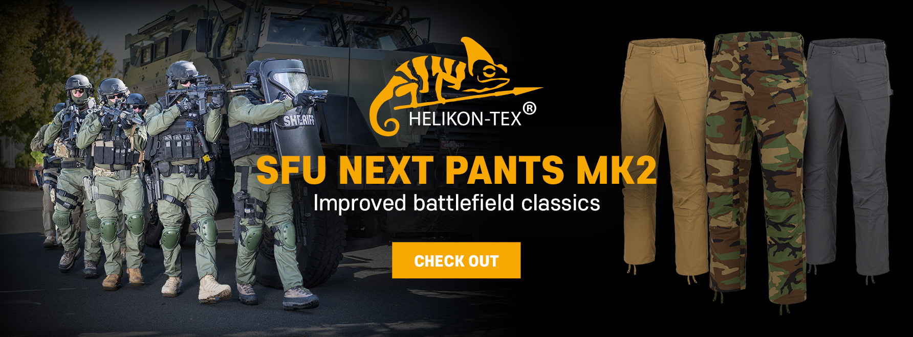 Kalhoty HELIKON SFU Next Mk2
