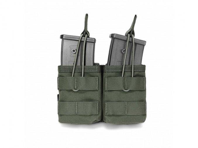 Otevřená sumka na dva zásobníky Warrior Assault Systems Double MOLLE Open G36 - Olive Drab