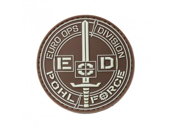 Nášivka POHL FORCE 3D Rubber Patch EOD Gen2 (Glow in the Dark)