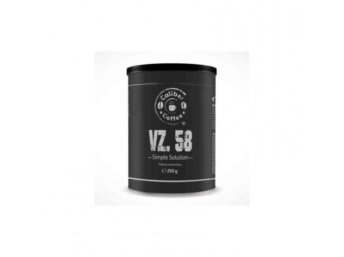 Zrnková káva CALIBER COFFEE® vz. 58 plechovka