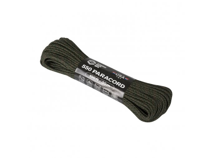 Paracord ATWOOD ROPE Tactical 550 Cord Changing Pattern 100 ft (33 m)